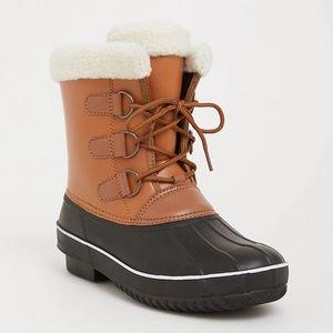 Torrid 9 Wide Boots Duck Booties Rain Snow Fleece